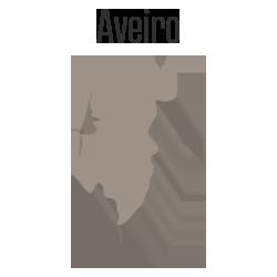 Mapa de Portugal - Distrito de Aveiro